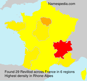 Surname Revillod in France