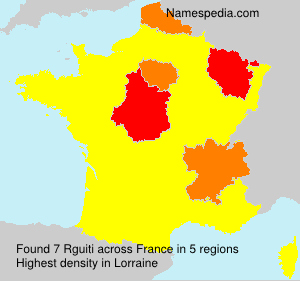 Surname Rguiti in France