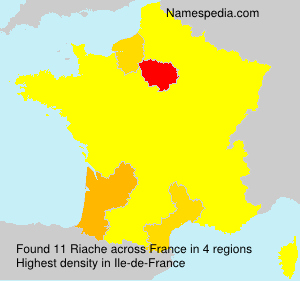 Surname Riache in France
