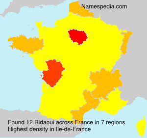 Surname Ridaoui in France