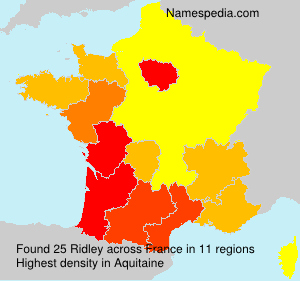 Surname Ridley in France