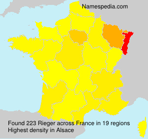 Surname Rieger in France