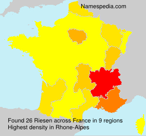 Surname Riesen in France