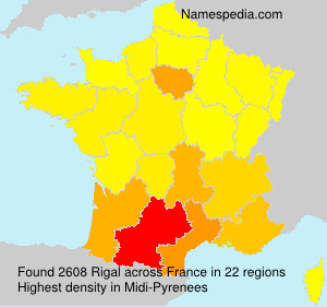 Surname Rigal in France