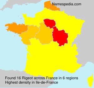 Surname Rigeot in France