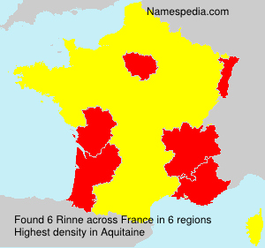 Surname Rinne in France