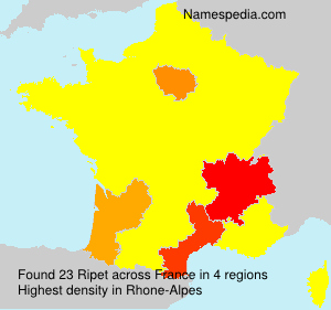 Surname Ripet in France