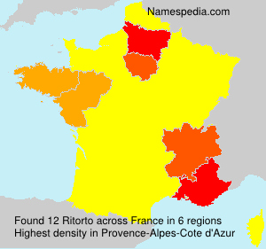 Surname Ritorto in France