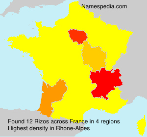 Surname Rizos in France