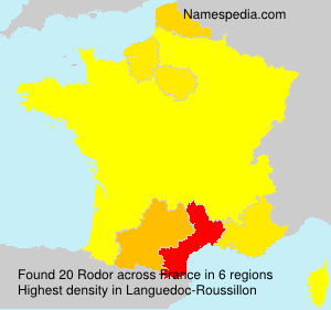 Surname Rodor in France