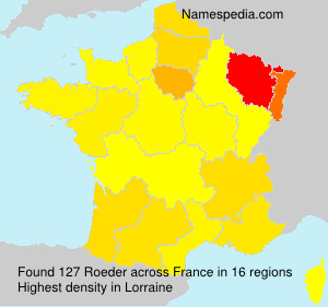 Surname Roeder in France