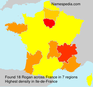 Surname Rogan in France