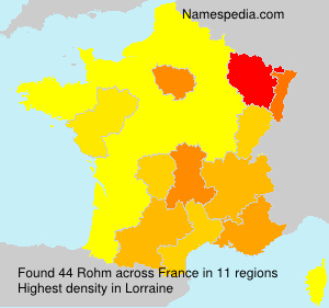 Surname Rohm in France
