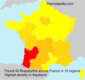 Surname Roquejoffre in France