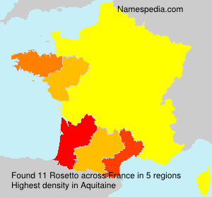 Surname Rosetto in France