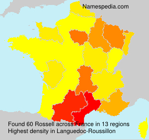 Surname Rossell in France
