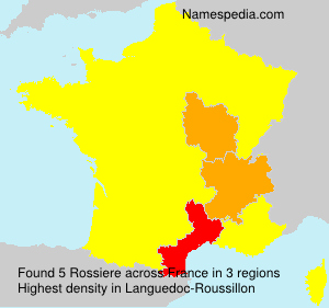 Surname Rossiere in France