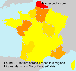 Surname Rottiers in France