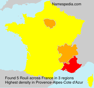 Surname Rouli in France
