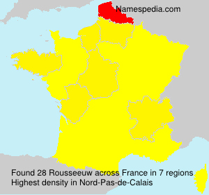 Surname Rousseeuw in France