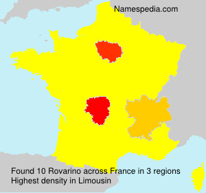 Surname Rovarino in France