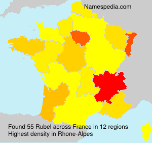 Surname Rubel in France