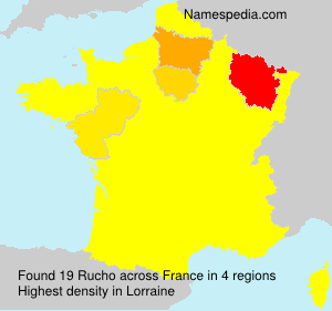 Surname Rucho in France