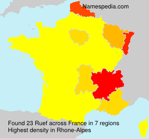 Surname Ruef in France