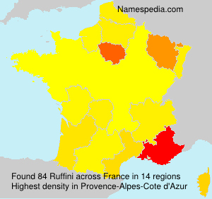 Surname Ruffini in France