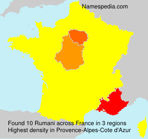 Surname Rumani in France