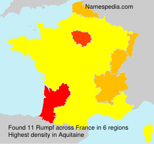 Surname Rumpf in France
