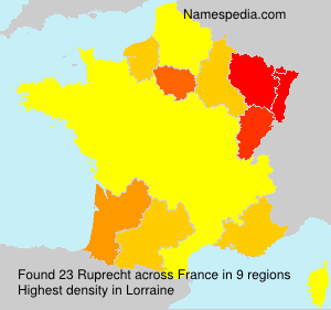Surname Ruprecht in France