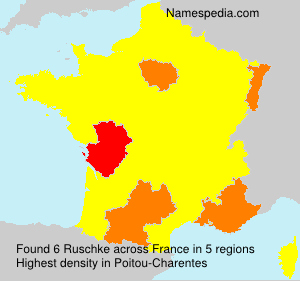 Surname Ruschke in France
