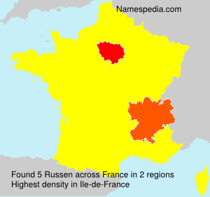 Surname Russen in France