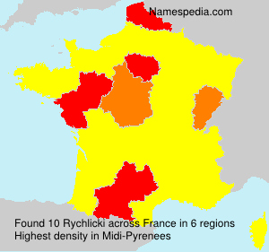 Surname Rychlicki in France