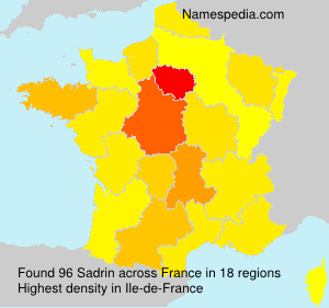 Surname Sadrin in France