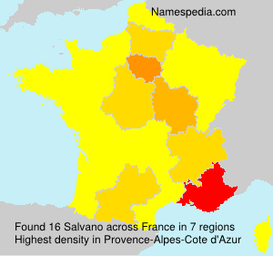 Surname Salvano in France