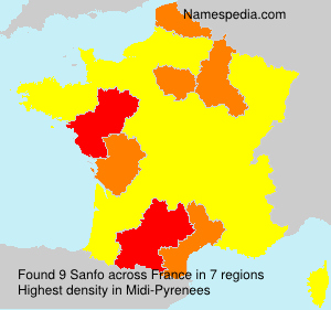 Surname Sanfo in France