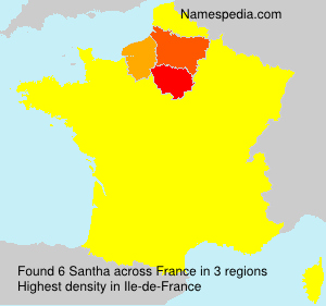 Surname Santha in France