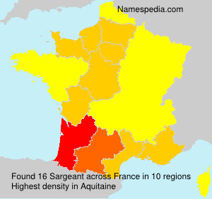 Surname Sargeant in France