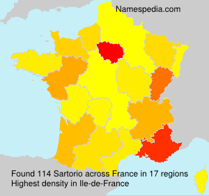 Surname Sartorio in France