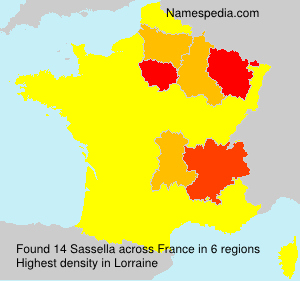 Surname Sassella in France