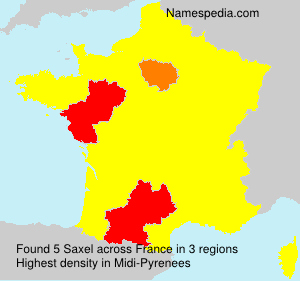 Surname Saxel in France