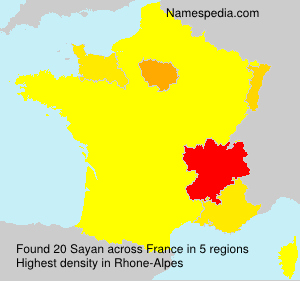 Surname Sayan in France