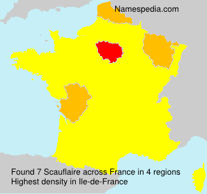 Surname Scauflaire in France