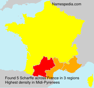 Surname Scharffe in France