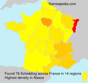 Surname Scheibling in France