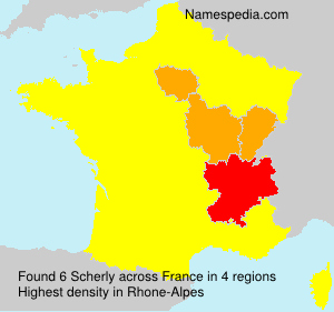 Surname Scherly in France