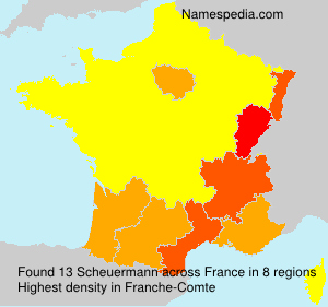 Surname Scheuermann in France
