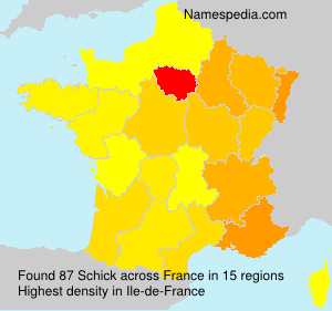Surname Schick in France